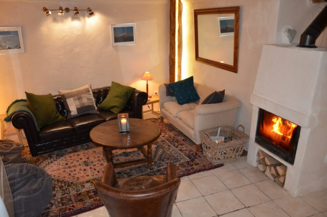 Living area log fire sofas comfort